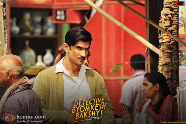 Sushant Singh Rajput in a still from movie 'Detective Byomkesh Bakshy'