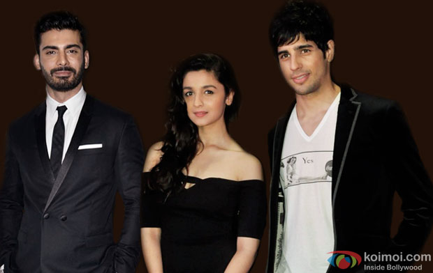 Fawad Khan, Alia Bhatt and Sidharth Malhotra