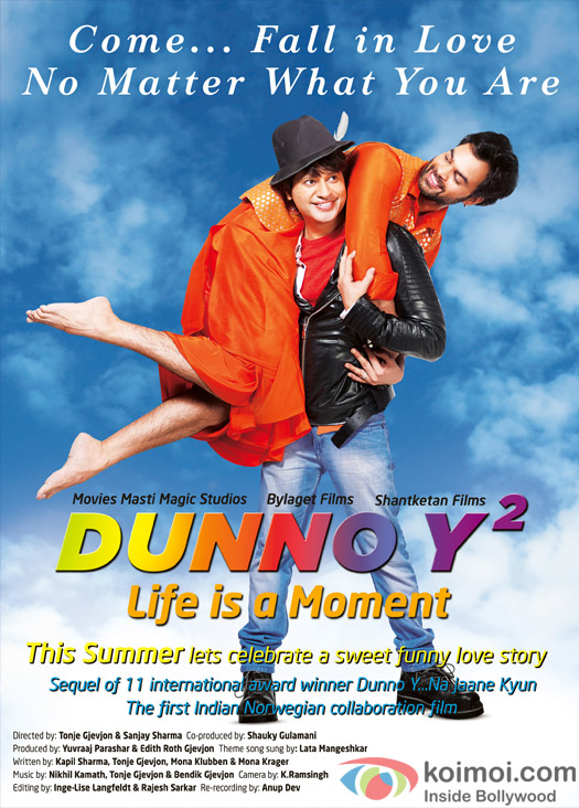Kapil Sharma and Yuvraaj Parashar in a 'DunnoY 2 Lif is Moment' movie poster