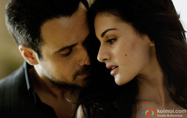 Emraan Hashmi and Amyra Dastur in a still from movie 'Mr X'