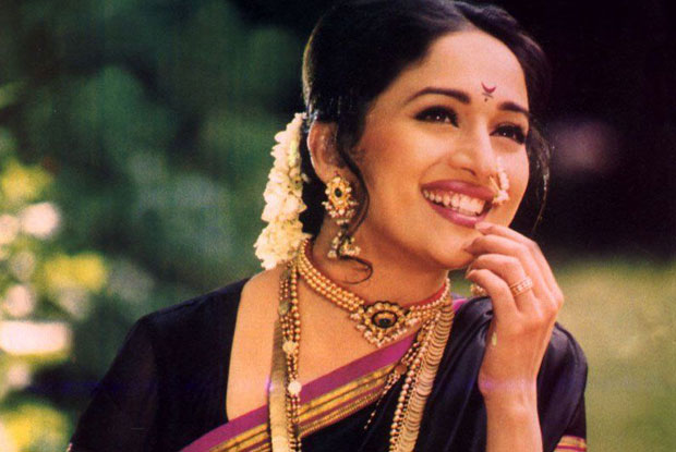 Madhuri Dixit in a still from movie 'Mrityudand (1997)'
