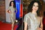 Kangana Ranaut in a pencil skirt, sheath dress and cinched waist-lines