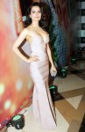 Kangana Ranaut in an embellished plunge neck nude hued gown