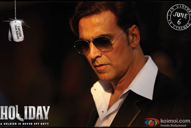 Akshay Kumar in a still from movie 'Holiday (2014)'