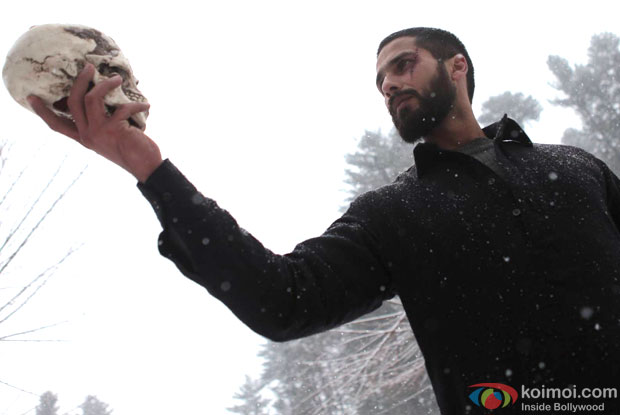 Shahid Kapoor in a still from movie 'Haider (2014)'
