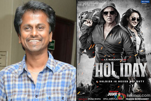 AR Murugadoss and 'Holiday (2014)' Movie Poster