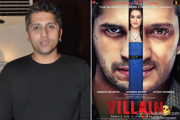 Mohit Suri and 'Ek Villain (2014)' Movie Poster