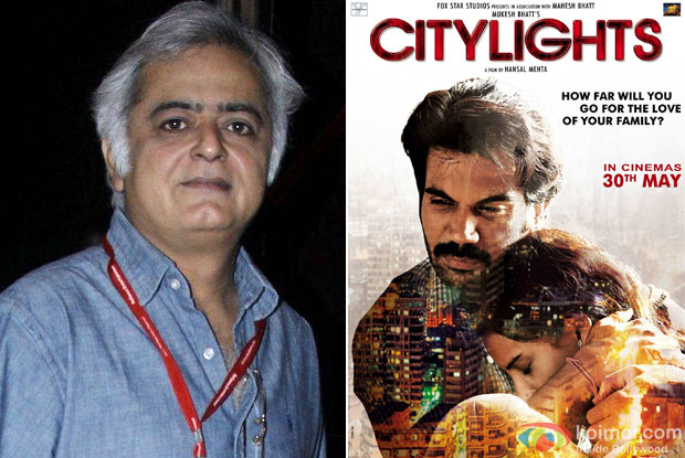 Hansal Mehta and 'CityLights (2014)' Movie Poster