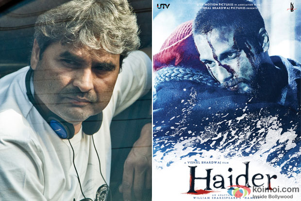 Vishal Bhardwaj and 'Haider (2014)' Movie Poster
