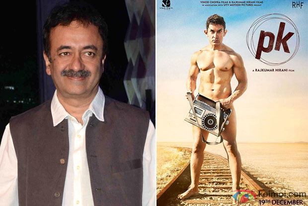 Rajkumar Hirani and 'PK (2014)' Movie Poster