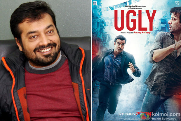 Anurag Kashyap and 'Ugly (2014)' Movie Poster