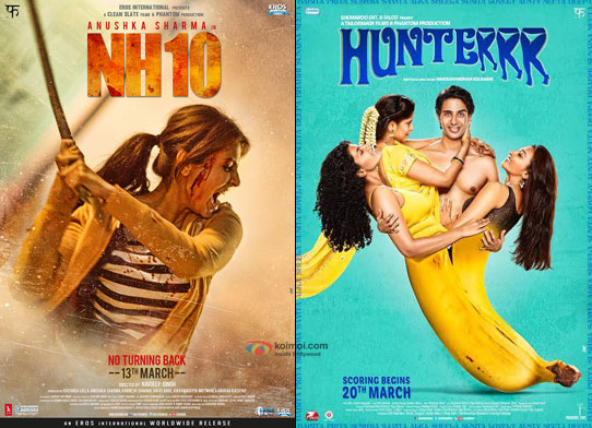 NH10 and Hunterrr Movie Posters