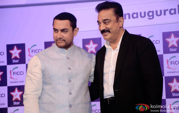 Aamir Khan and Kamal Haasan At FICCI Frames 2015