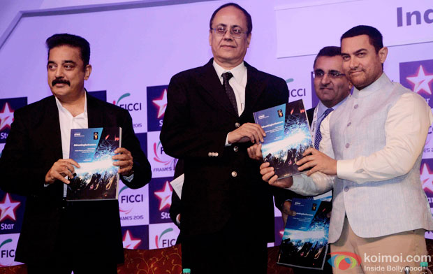 Kamal Haasan and Aamir Khan  At FICCI Frames 2015