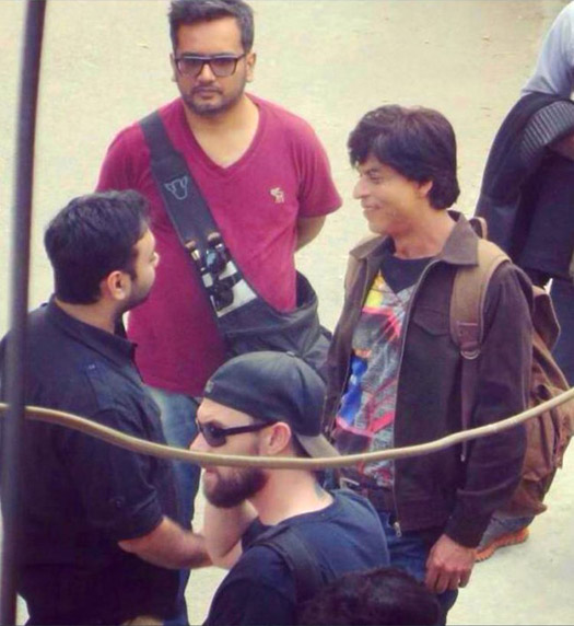 Shah Rukh Khan on the sets of movie 'Fan'
