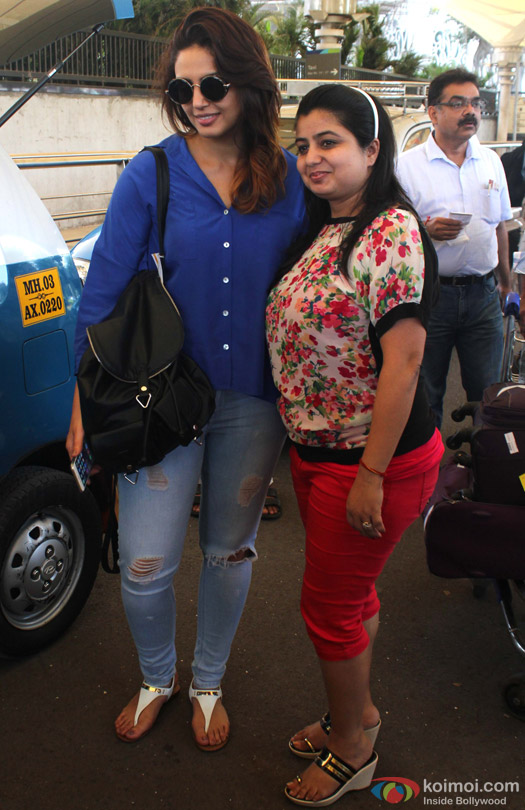 Huma Qureshi Snapped At Domestic Airport