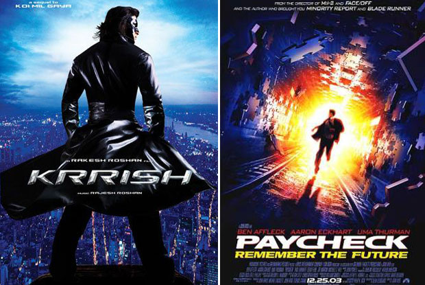 Krrish (2006) and Paycheck (2003) Movie Poster