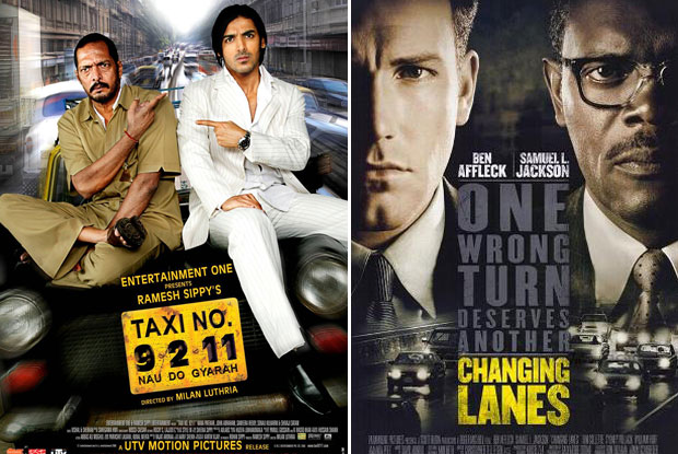 Taxi No. 9211 (2006) and Changing Lanes (2002) Movie Poster