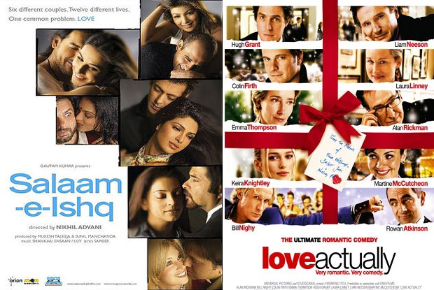 Salaam-e-Ishq: A Tribute to Love (2007) and Love Actually (2003) Movie Poster