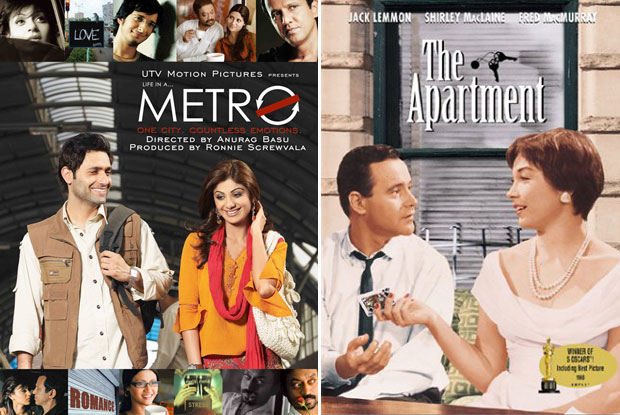 Life in a... Metro (2007) and The Apartment (1960) Movie Poster