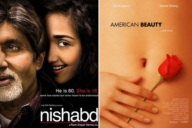 Nishabd (2007) and American Beauty (1999) Movie Poster