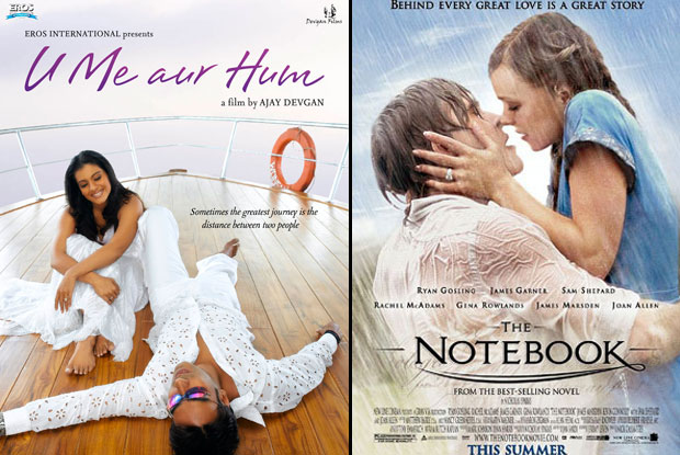 U Me Aur Hum (2008) and The Notebook (2004) Movie Poster