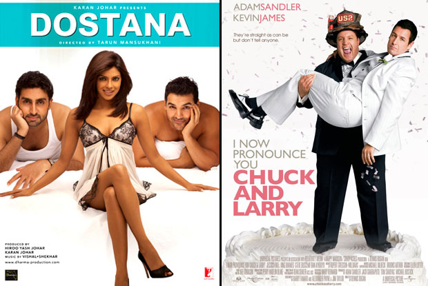 Dostana (2008) & I Now Pronounce You Chuck and Larry (2007) Movie Poster