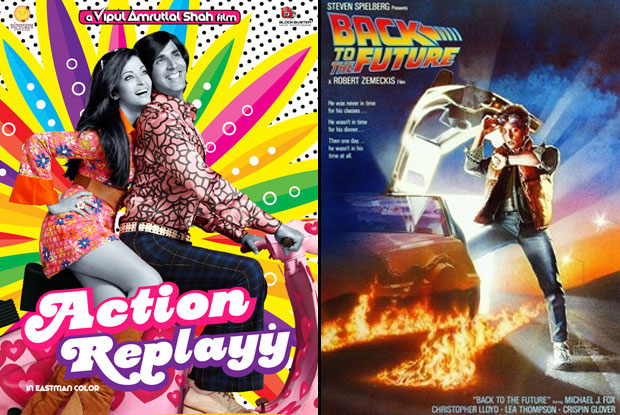 Action Replayy (2010) and Back to the Future (1985) Movie Poster