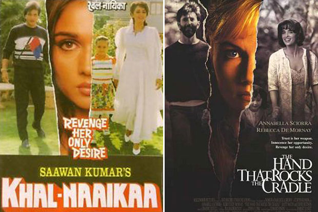 Khal-Naaikaa (1993) and The Hand That Rocks the Cradle (1992) Movie Poster