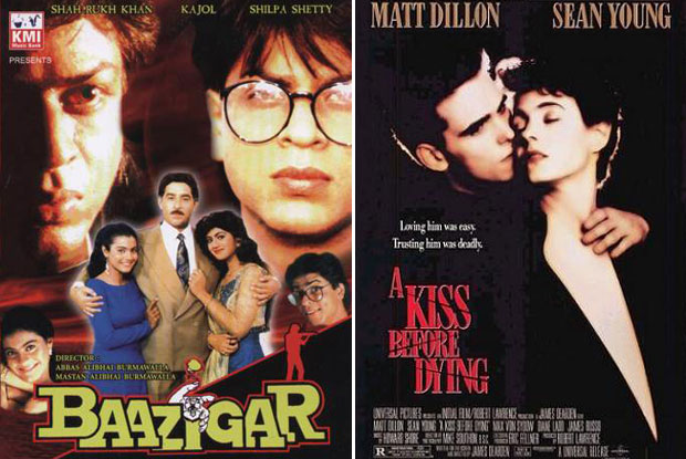Baazigar (1993) and A Kiss Before Dying (1991) Movie Poster