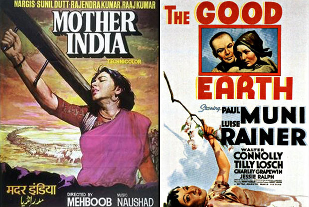 Mother India (1957) and The Good Earth (1937) Movie Poster