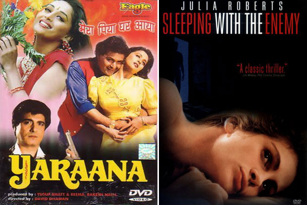 Yaraana (1995) and Sleeping with the Enemy (1991) Movie Poster