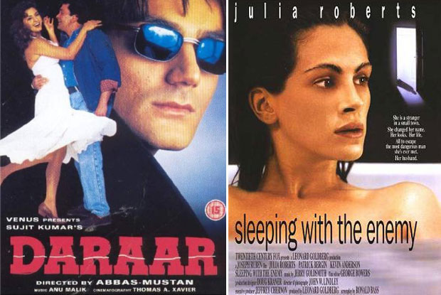 Daraar (1996) and Sleeping with the Enemy (1991) Movie Poster