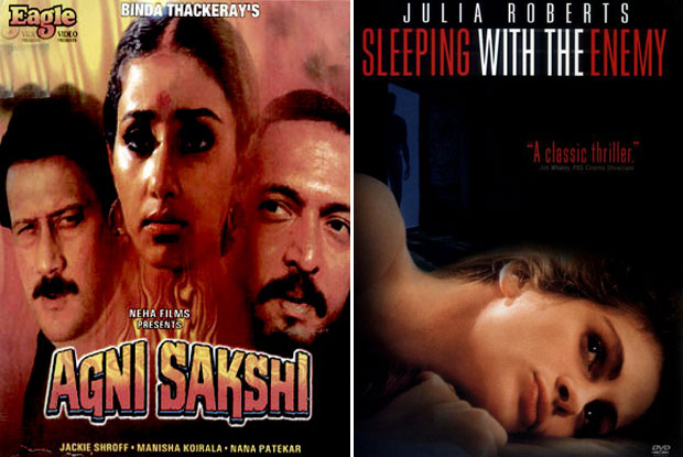 Agni Sakshi (1996) and Sleeping with the Enemy (1991) Movie Poster