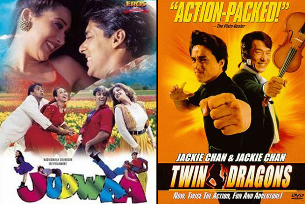 Judwaa (1997) and Twin Dragons (1992) Movie Poster