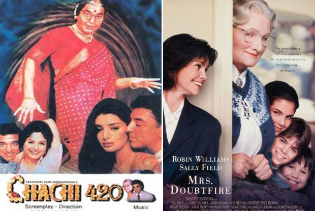 Chachi 420 (1997) and Mrs. Doubtfire (1993) Movie Poster