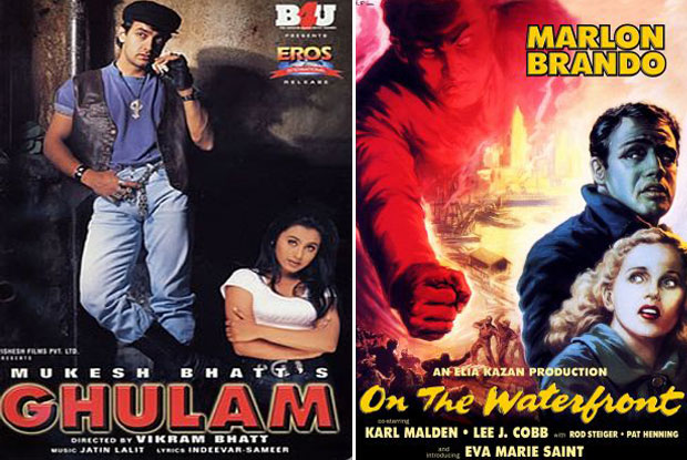 Ghulam (1998) and On the Waterfront (1954) Movie Poster