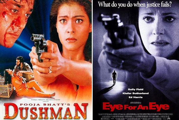 Dushman (1998) and Eye for an Eye (1996) Movie Poster