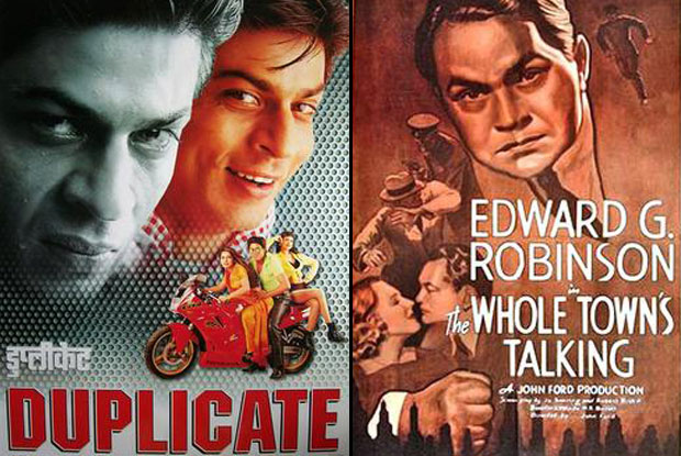 Duplicate (1998) and The Whole Town's Talking (1935) Movie Poster