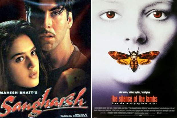 Sangharsh (1999) and The Silence of the Lambs (1991) Movie Poster