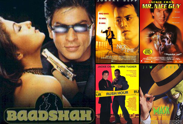 Baadshah (1999), Nick of Time (1995), The Mask (1994), Rush Hour (1998) and Mr. Nice Guy (1997) Movie Poster