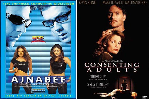 Ajnabee (2001) and Consenting Adults (1992) Movie Poster