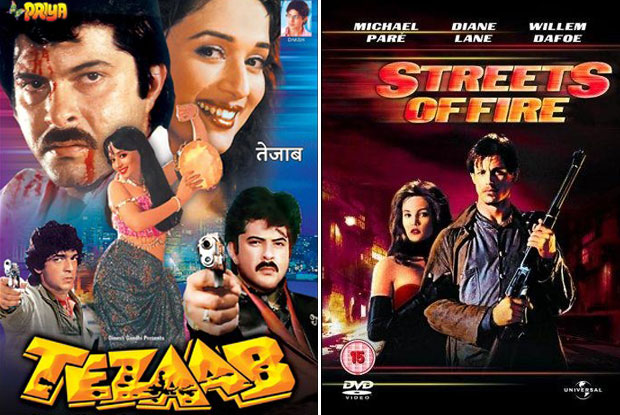 Tezaab (1988) and Streets of Fire (1984) Movie Poster