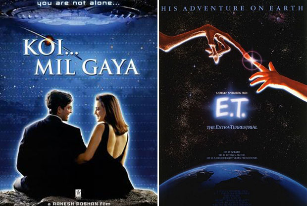 Koi... Mil Gaya (2003) and E.T. the Extra-Terrestrial (1982) Movie Poster