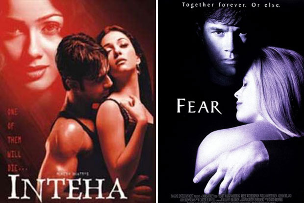 Inteha (2003) and Fear (1996) Movie Poster
