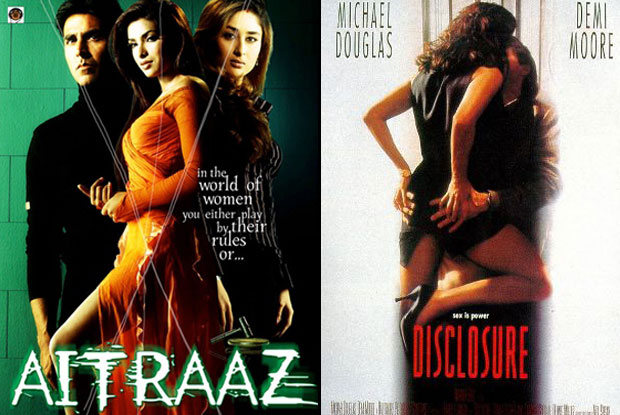 Aitraaz (2004) and Disclosure (1994) Movie Poster