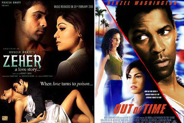 Zeher (2005) and Out of Time (2003) Movie Poster