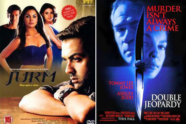 Jurm (2005) and Double Jeopardy (1999) Movie Poster
