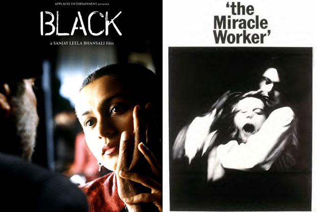 Black (2005) and The Miracle Worker (1962) Movie Poster