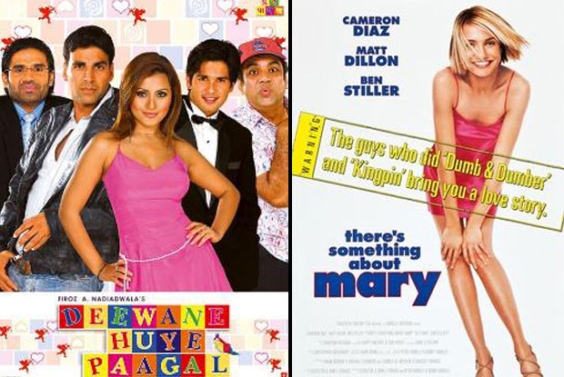 Deewane Huye Paagal (2005) and There's Something About Mary (1998) Movie Poster